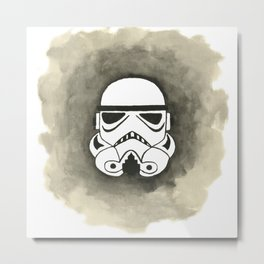 Storm Trooper Watercolor Metal Print