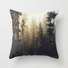 Sunrise Forest Throw Pillow