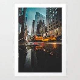 Manhattan Taxi Art Print