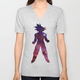 Red Space Goku Unisex V-Neck