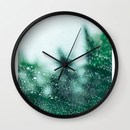 Raindrops are falling on my head Wall Clock