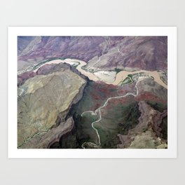 Grand Canyon bird's eye view #1 Art Print