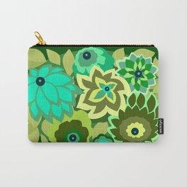 CAMBRIA, ART DECO FLORALS: GREEN SCENE Carry-All Pouch