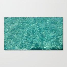 Clear Ocean Water Canvas Print