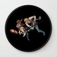 durarara Wall Clocks featuring Shizuo and Izaya 2 by Prince Of Darkness