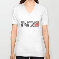 "n7 V-neck T-shirts featuring ""My Favorite Things"" N7 by Helenasia"