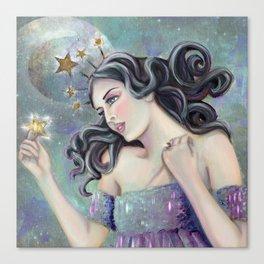 Asteria - Goddess of Stars Canvas Print