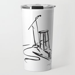 Open Mic by Kathy Morton Stanion Travel Mug