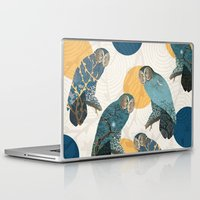 mandie manzano Laptop & iPad Skins featuring Night Owl Polka by Paula Belle Flores