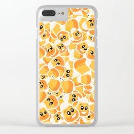 Candy Corn Emoji Pattern Clear iPhone Case