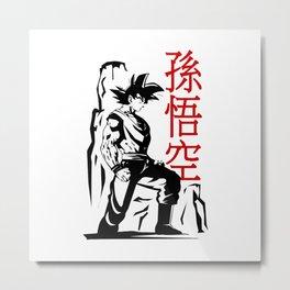Goku Style Metal Print