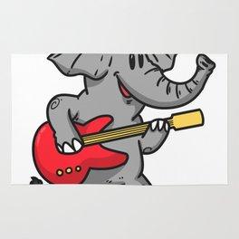 Guitar elephant Rug