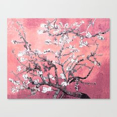 Van Gogh Almond Blossoms : Peachy Pink Canvas Print
