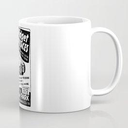 Midget Auto Races, Race poster, vintage poster, bw Coffee Mug