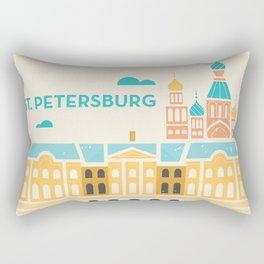 St. Petersburg Fountains Rectangular Pillow
