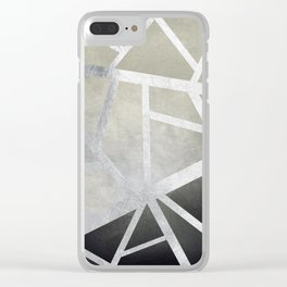 Textured Metal Geometric Gradient With Silver Clear iPhone Case