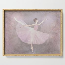 Ballerina in Arabesque Serving Tray