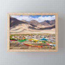 Tibet: Samye monastery & Himalaya Framed Mini Art Print