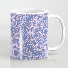 Pink and Mauve Mandala Pattern Coffee Mug