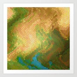 PROPOSED LANDING SITE NEAR A SHORELINE ON MORI THREE Art Print