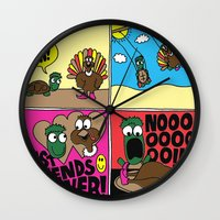 thanksgiving Wall Clocks featuring Thanksgiving by Chris Piascik