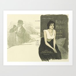 Cover for the book Nathalie Madore by Abel Hermant Theophile Alexandre Steinlen 1859 - 1923 Art Print