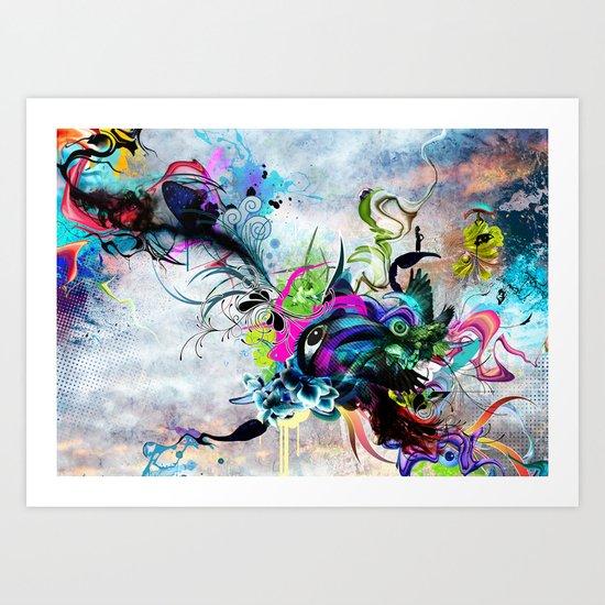 Streaming Eyes Art Print