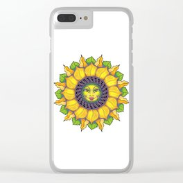 Sunflower Sunshine Girl by Amanda Martinson Clear iPhone Case