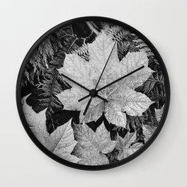 Ansel Adams - Leaves Wall Clock
