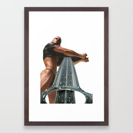 73 - let it all out Framed Art Print