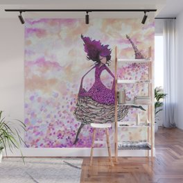 Paris petals Wall Mural