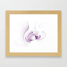 Purple Swirls Framed Art Print