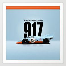 Porsche 917-026 Gulf Racing Art Print