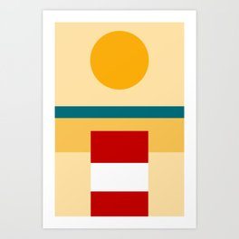 """Beach View"" Art Print"