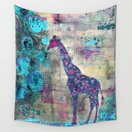 Majestic Series: Giraffe having a berry Wall Tapestry