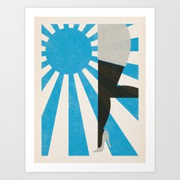 Walking on Sunshine Art Print