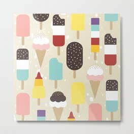 Ice Lollies & Frozen Treats Metal Print
