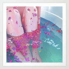 Flower Bath 4 Art Print