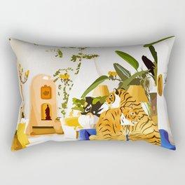 Tiger Reserve Villa Rectangular Pillow