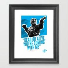 Badass 80's Action Movie Quotes - Robocop Framed Art Print