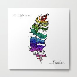 As light as a... Metal Print