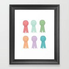 W-I-N-N-E-R Framed Art Print