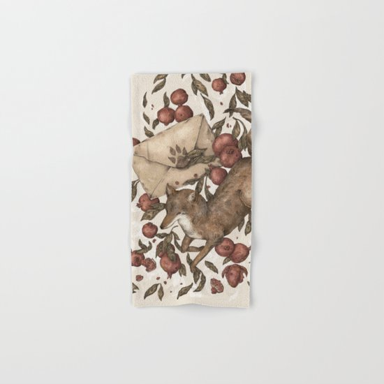 Coyote Love Letters Hand & Bath Towel