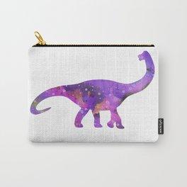 Dinosaur Brachiosaurus Art Print Wild Animals Nursery Decor Kids Room Watercolor Pint Purple Art Carry-All Pouch