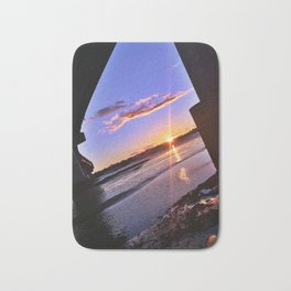 Moving Tide at Sunset under the Casco Bay Bridge Bath Mat