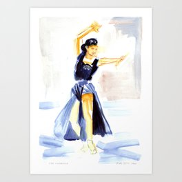 Dancer Cyd Charisse Art Print