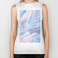 holographic Biker Tanks featuring Iridescence by Leah Moloney Photo