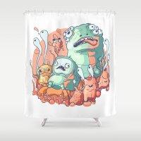 bubblegum Shower Curtains featuring Bubblegum by Ceals