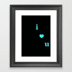 I Heart You Alphabet Print Framed Art Print