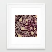 vegetable Framed Art Prints featuring decorative vegetable by MehrFarbeimLeben
